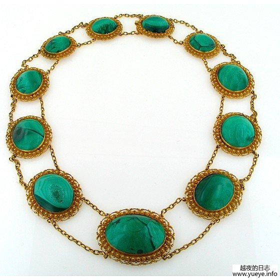 GOLD AND MALACHITE CANNETILLE SUITE