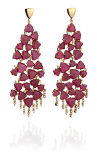 FR Hueb ruby earrings