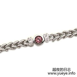 Pink Tourmaline and Diamond Bracelet